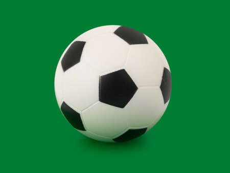 Soccer ball, isolated on green background Stock Photo - 3118381