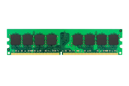 dimm: Macro of computer memory, isolated on white background