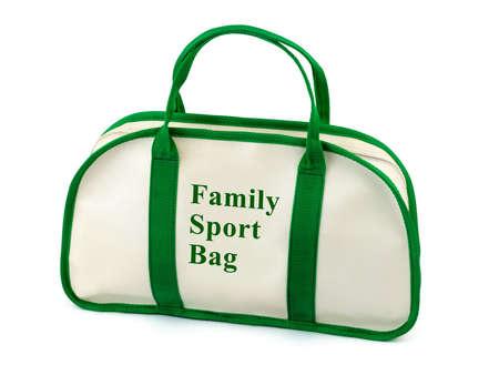 sport bag, isolated on white background photo