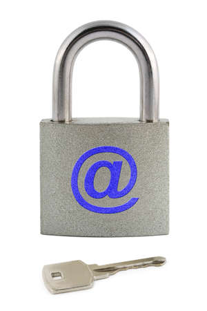 Internet security concept isolated on white background Stock Photo - 3303849