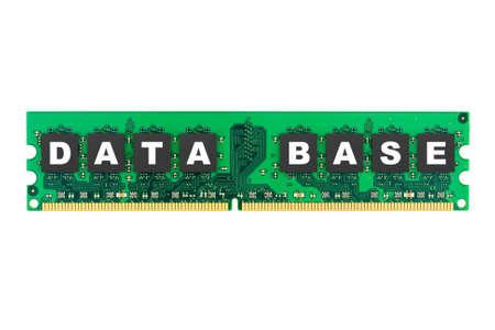 Word Database on  memory isolated on white background photo