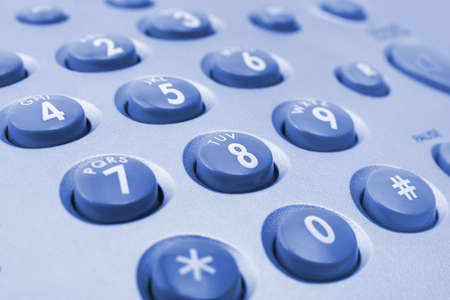 Makro von Telefon-Tastatur, Business Hintergrund