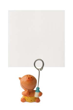 Frame for child photo isolated on white background Stock Photo - 3350219