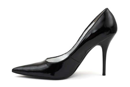 Black women shoe isolated on white background Stock Photo - 3369064