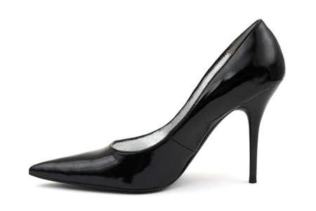 Black women shoe isolated on white background Stock Photo - 3369064