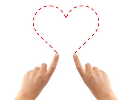 corazon dibujo: Coraz�n de dibujo a mano aisladas sobre fondo blanco Foto de archivo