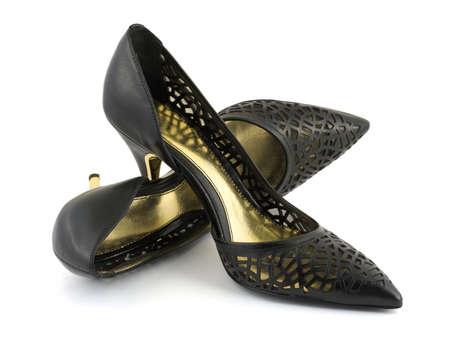 Black women shoes isolated on white background Stock Photo - 3410294
