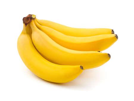 banane: R�gime de bananes isol�s sur fond blanc