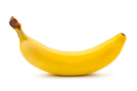 banana: Ripe banana isolated on white background