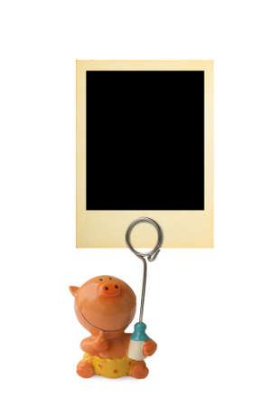 Retro frame for child photo isolated on white background Stock Photo - 3529368
