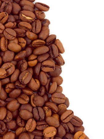 Macro of coffee isolated on white background photo