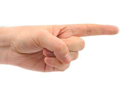 Pointing hand isolated on white background Stock Photo - 3671825