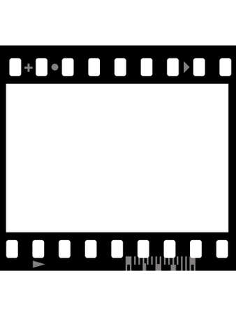 Frame of photographic film ( seamless ) isolated on white background Stock Photo - 3679347