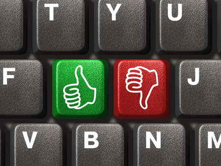 Computer keyboard with two gesturing hands keys Stock Photo - 3682832