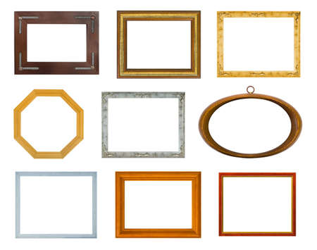 Collection of frames isolated on white background Stock Photo - 3692666