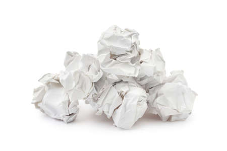Heap of crumpled paper isolated on white background Stock Photo - 3692675