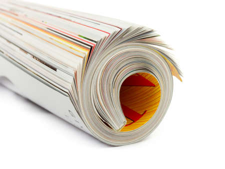Roll of magazine isolated on white background Stock Photo - 3869914