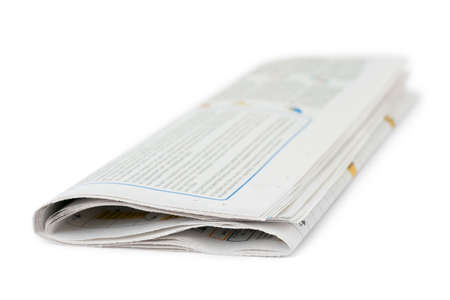 Newspaper isolated on white background Stock Photo - 3913987