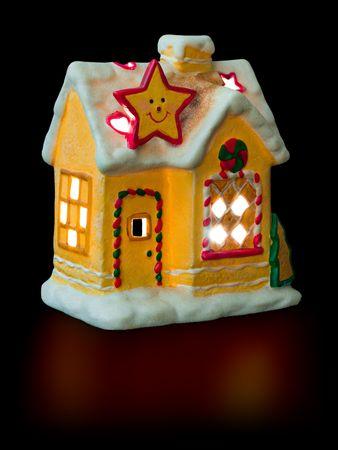 Lighting house isolated on black background Stock Photo - 3976218