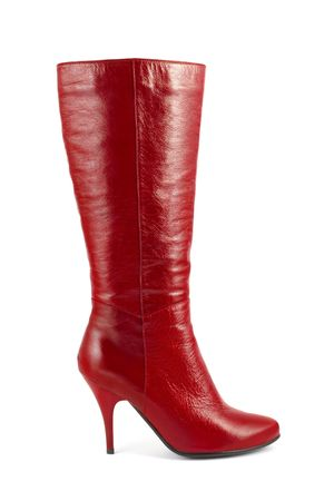Red woman boot isolated on white background Stock Photo - 4008308