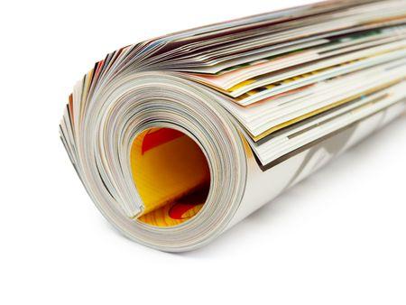 Roll of magazine isolated on white background Stock Photo - 4031464
