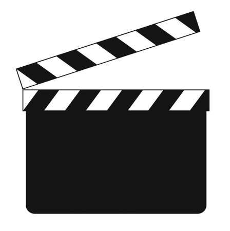 clapboard: Blank clapboard (illustration) isolated on white background Stock Photo