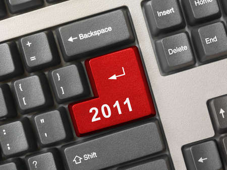 Computer keyboard with 2011 key - holiday concept Stock Photo - 8325351