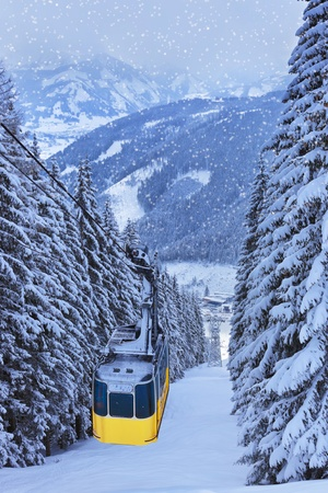 zell am see: Mountains ski resort Zell am See Austria Stock Photo