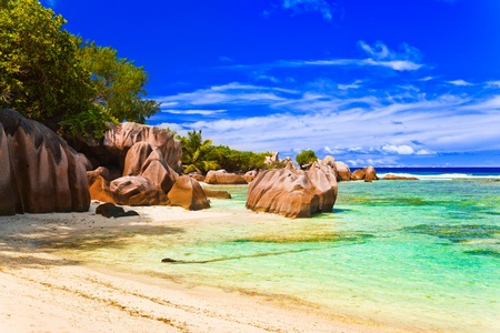 Tropical beach - vacation nature background photo