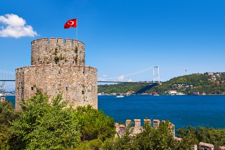 bosporus: Rumeli Fortress at Istanbul Turkey - architecture background Editorial