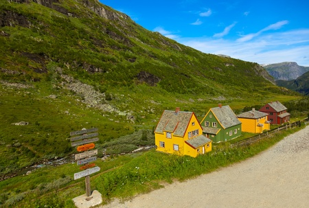 Flam in Norway - nature and travel background photo