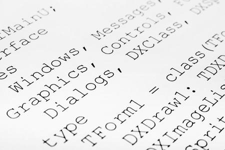extensible: Impreso c?digo de computadora - la tecnolog?a de fondo