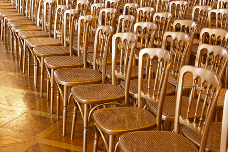 Boardroom meeting: Rows of chairs - meeting background