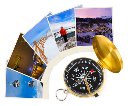 Mountains ski Austria images and compass (my photos) - nature and sport background photo