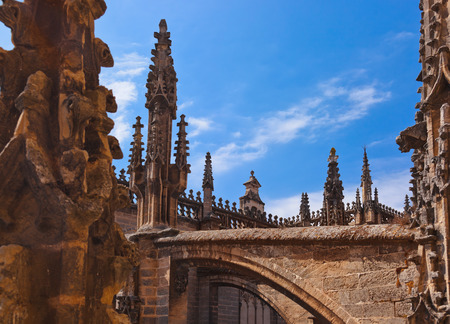 Cathedral La Giralda at Sevilla Spain - architecture background photo