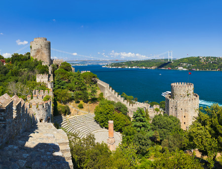 rumeli: Rumeli Fortress at Istanbul Turkey - architecture background Editorial