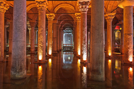 Underground water Basilica Cistern - Istanbul Turkey photo