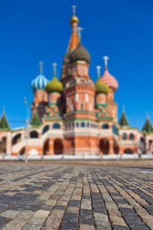 Saint Basil Cathedral on Red square, Moscow (Russia) photo