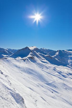 Mountains ski resort Bad Gastein Austria - nature and sport background photo