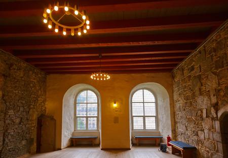 ancient prison: Retro interior in fortress - Bergen Norway - architecture background