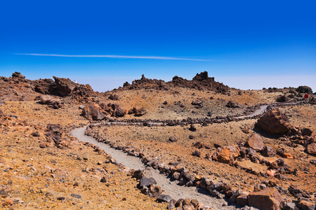 dormant: Landscape on the volcano Teide in Tenerife island - Canary Spain