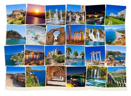 Stack of Antalya Turkey travel images - nature and architecture background  my photos
