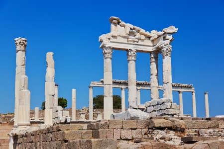 Temple of Trajan at Acropolis of Pergamon - Turkey Stock Photo