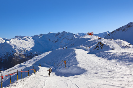 Mountains ski resort Bad Gastein Austria - nature and sport background photo