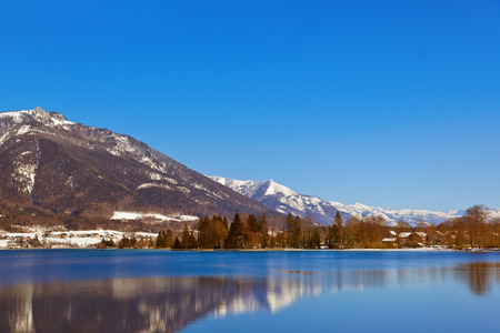 Mountains ski resort Abersee Austria - nature and sport background Stock Photo - 22801765