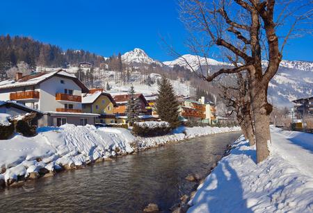 Mountains ski resort Bad Hofgastein Austria - nature and architecture background photo