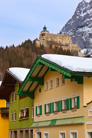 Village and castle Werfen near Salzburg Austria - architecture and nature background photo