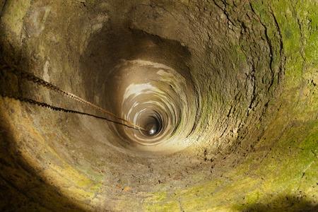 water hole: Old well in castle Kufstein - Austria