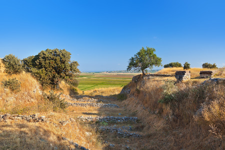 Ancient ruins in Troy Turkey - travel background photo