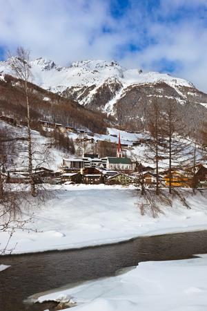 Mountains ski resort Solden Austria - nature and sport background photo